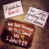 Engagement Photo Signs
